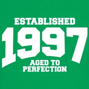 aged to perfection established 1997 (es) Camisetas - Camiseta contraste hombre