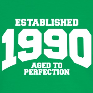 aged to perfection established 1990 (sv) T-shirts - Kontrast-T-shirt herr