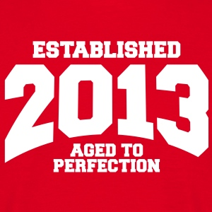 aged to perfection established 2013 (sv) T-shirts - T-shirt herr