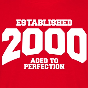 aged to perfection established 2000 (sv) T-shirts - T-shirt herr