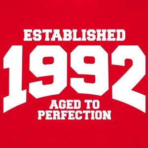 aged to perfection established 1992 (sv) T-shirts - T-shirt herr