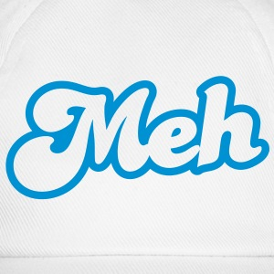 meh? huh? wtf? word really funky design Caps & Hats - Baseball Cap