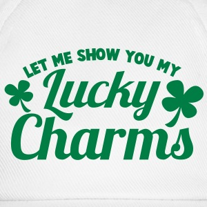 LET ME SHOW you my LUCKY CHARMS with day shamrock Caps & Hats - Baseball Cap