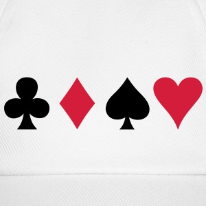 ALL FOUR poker cards card suits in a row Caps & Hats - Baseball Cap