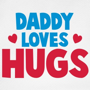 Daddy loves hugs! with cute little love hearts Caps & Hats - Baseball Cap