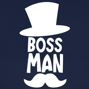 boss man with a top hat and a ye olde moustache Caps & Hats - Baseball Cap