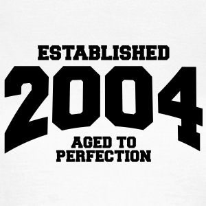 aged to perfection established 2004 (dk) T-shirts - Dame-T-shirt