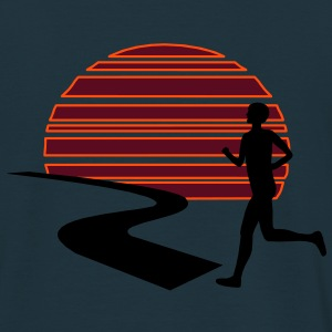 Run Sunset T-Shirts - Männer T-Shirt