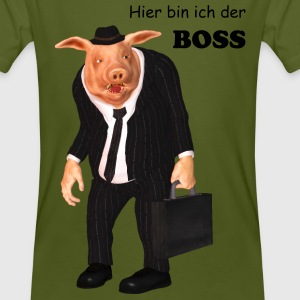 Business Pig - Männer Bio-T-Shirt