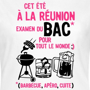 bac reunion barbecue apero cuite biere Tee shirts - T-shirt Femme