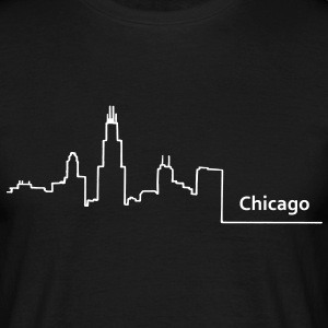 chicago skyline - Männer T-Shirt