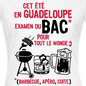 bac guadeloupe barbecue apero cuite biere Tee shirts - T-shirt Femme