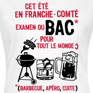 bac franche comte barbecue apero cuite biere Tee shirts - T-shirt Femme