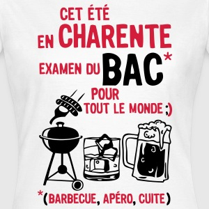 bac charente barbecue apero cuite biere Tee shirts - T-shirt Femme
