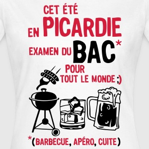 bac picardie barbecue apero cuite biere Tee shirts - T-shirt Femme