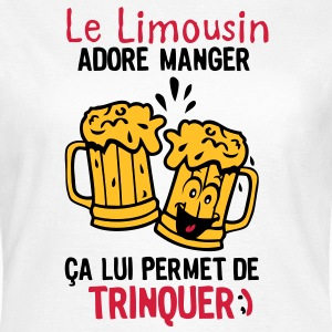limousin trinquer biere alcool verre Tee shirts - T-shirt Femme