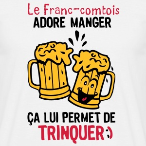 franc comtois trinquer biere alcool verre Tee shirts - T-shirt Homme