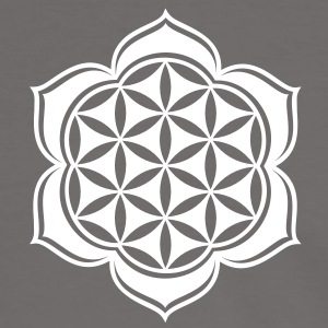 Flower of life, Lotus-Flower, vector, c, energy symbol, energy symbol T-skjorter - Kontrast-T-skjorte for menn