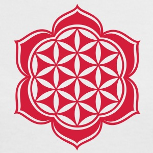 Flower of life, Lotus-Flower, vector, c, energy symbol, energy symbol T-Shirts - Women's Ringer T-Shirt