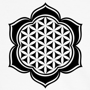 Flower of life, Lotus-Flower, vector, c, energy symbol, protection symbol T-Shirts - Men's Ringer Shirt