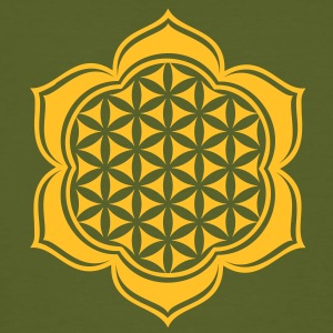 Flower of life, Lotus-Flower, vector, c, energy symbol, protection symbol T-Shirts - Men's Organic T-shirt