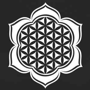 Flower of life, Lotus-Flower, vector, c, energy symbol, protection symbol Tee shirts - T-shirt Bio Femme