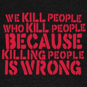 we kill people who kill people because killing people is wrong Pullover - Frauen Pullover mit U-Boot-Ausschnitt von Bella