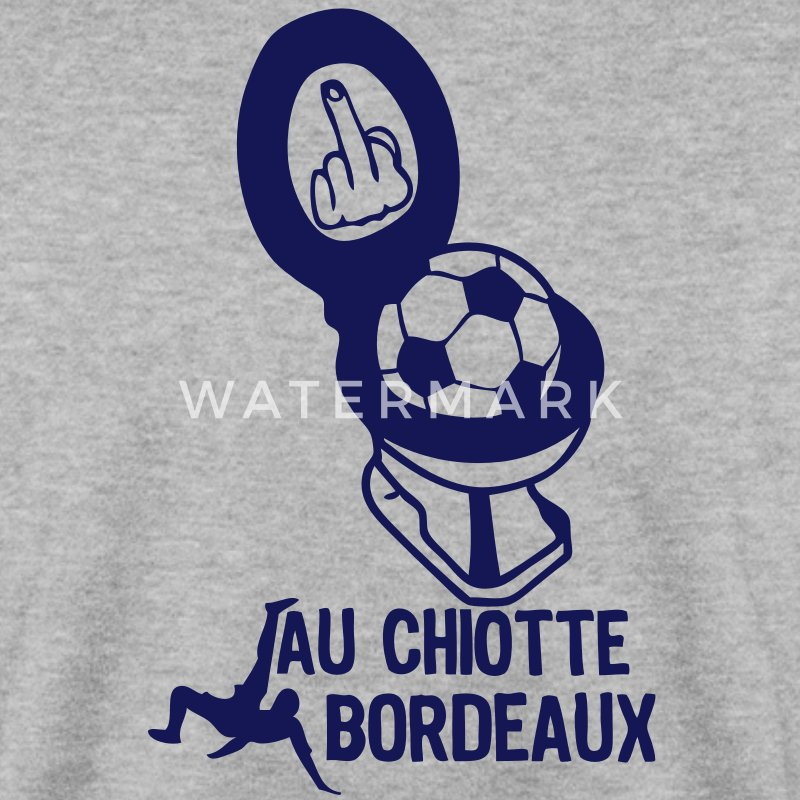 chiotte bordeaux football non supporter Sweat-shirts - Sweat-shirt Homme