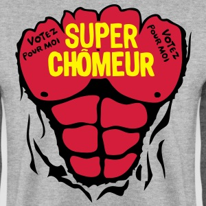 chomeur super corps muscle bodybuilding Sweat-shirts - Sweat-shirt Homme