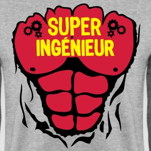 ingenieur super corps muscle bodybuildin Sweat-shirts - Sweat-shirt Homme