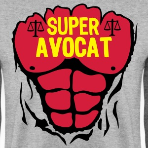 avocat super corps muscle bodybuilding Sweat-shirts - Sweat-shirt Homme