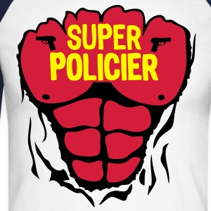 policier super corps muscle bodybuilding Tee shirts manches longues - T-shirt baseball manches longues Homme