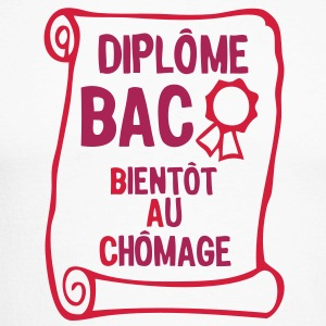 bac bientot au chomage diplome2 Tee shirts manches longues - T-shirt baseball manches longues Homme