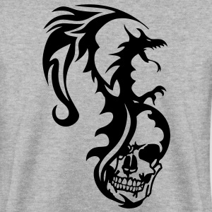 dragon tribal tatouage tete mort1 Sweat-shirts - Sweat-shirt Homme