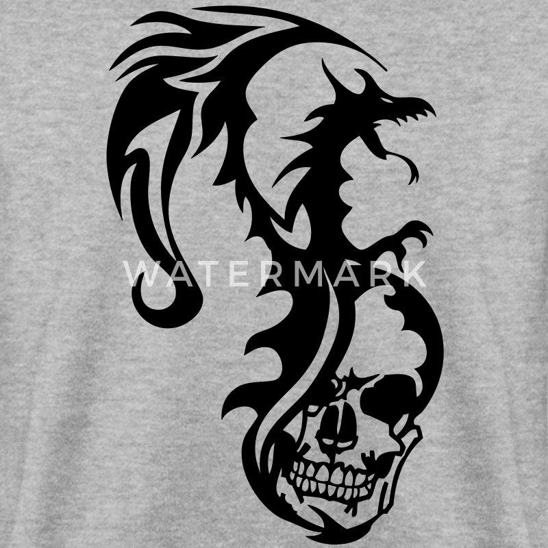 sweat shirt dragon tribal tatouage tete mort1 spreadshirt. Black Bedroom Furniture Sets. Home Design Ideas