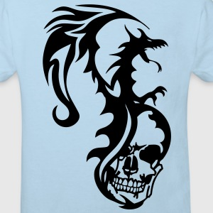 dragon tribal tatouage tete mort1 Tee shirts Enfants - T-shirt Bio Enfant
