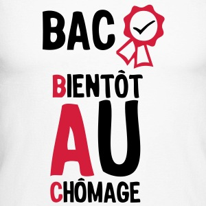 bac bientot au chomage1 diplome8 Tee shirts manches longues - T-shirt baseball manches longues Homme