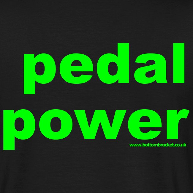 Pedal Power T - Print on Back