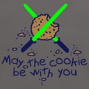 May the cookie be with you T-shirts - Kontrast-T-shirt dam