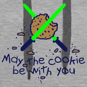 May the cookie be with you Bluzy - Bluza damska Premium z kapturem