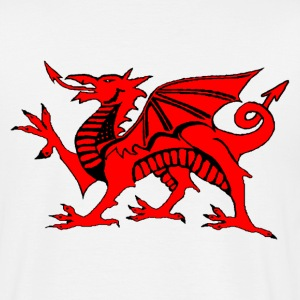 welsh red dragon uk gents boxing t-shirts - Men's T-Shirt