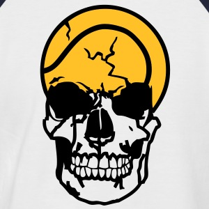 tete mort tennis balle dead skull11204 Tee shirts - T-shirt baseball manches courtes Homme