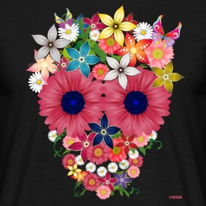 skull flowers by WAM Tee shirts - T-shirt Homme