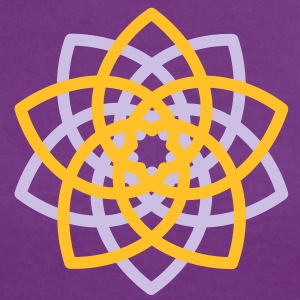 Venus Flower, Vector - FLOWER OF LOVE, symbol of love, balance and beauty T-shirts - Kontrast-T-shirt dam