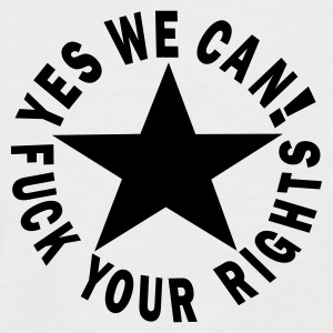 étoiles yes we can! fuck your rights Tee shirts - T-shirt baseball manches courtes Homme