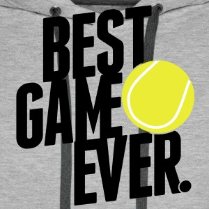 tennis - best game ever Sweaters - Mannen Premium hoodie