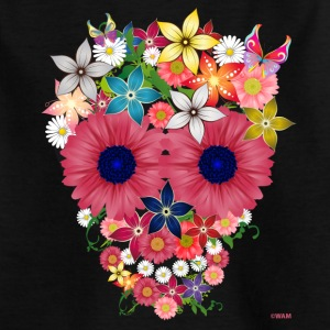 skull flowers by wam Kinder shirts - Kinderen T-shirt
