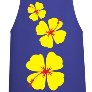 single three hibiscus tropical flowers  Aprons - Cooking Apron