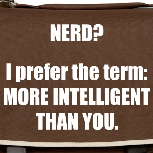126_nerd_i_prefer_the_term_more_intellig Torby - Torba na ramię