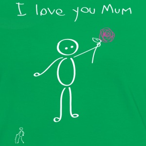 Stickman - I love you mum - Festa della mamma - Mother's Day - Maglietta Contrast da donna